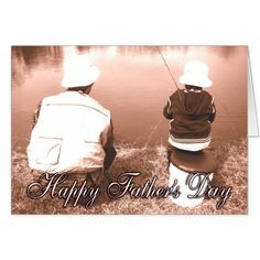 Father and Son Fishing - Happy Father's Day