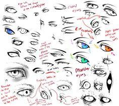 +more eye tips+ by moni158.deviantart.com on @DeviantArt