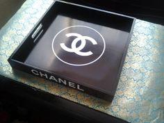 Hermès ou CHANEL 16po.Plateau de Srving. plateau par ClassCIRCUS, $139.00