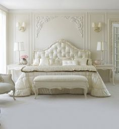 Rococo Button Upholstered Single Bed at Juliettes Interiors, a large collection of Classical Furniture. Luxury Bedroom Furniture, Luxury Bedroom Design, Bedroom Bed Design, Home Decor Bedroom, Luxury Bedding, Gray Bedroom, Master Bedrooms, Upholstered Beds, Luxurious Bedrooms