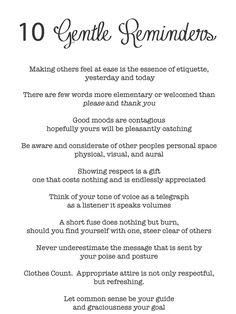 I love this simple list of gentle life reminders! |(Print by Oh My Deer Handmades)