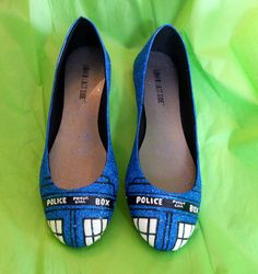 Doctor Who TARDIS Glitter Shoes by aishavoya on Etsy, $90.00