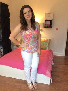 Darling In Lilly   Southern and Preppy Lifestyle Blog - summer in lilly pulitzer ootd fashion white jeans jack rogers scuba to cuba