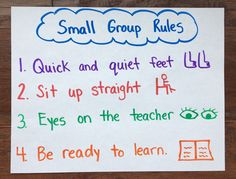 small group rules chart