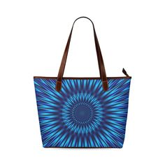 Blue Lagoon Shoulder Tote Bag (Model 1646)