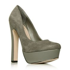 Gray Suede Platform Pumps 8 Brand New in box. Gray suede and leather Kurt Geiger Platform Pumps. Minor wear on bottom due to trying on - otherwise these are in perfect condition. These run slightly small. Kurt Geiger Shoes Platforms