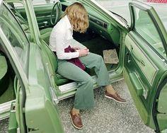 Ginger Shore, West Palm Beach, Florida, November 14, 1977, by Stephen Shore.