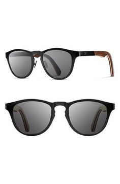 f17c56f0eea Shwood  Francis  49mm Titanium  amp  Wood Sunglasses available at   Nordstrom Sunglasses Shop