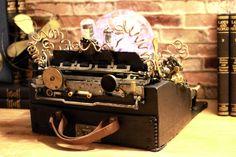 Steampunk Upcycled Vintage 1920 Remington Typewriter Repurposed Plasma desk Lamp