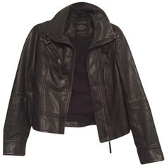Pre-owned Allsaints Belvedere Leather Biker Blac Leather Jacket (€210) ❤ liked on Polyvore featuring outerwear, jackets, blac, allsaints, real leather jacket, biker jacket, biker style leather jacket and 100 leather jacket