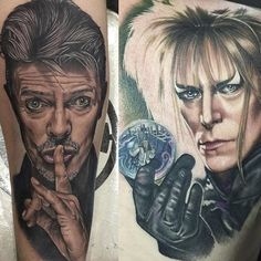 awesome Top 100 tattoo from tattoo art magazine   A few more #davidbowie #portrait #tattoos - these two by @chrisjonestattoos -- #ripdavidbowie -- share your Bowie tats: tag us & hashtag #tattooartistmagazine to have them included on our feed and/or an upcoming memorial blog at www.tattooartistmagazineblog.com