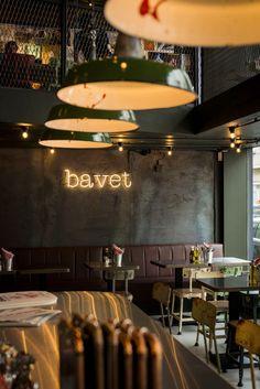 new places to be - Bavet Antwerp Belgium Food, Travel Belgium, Sliding Door Blinds, Restaurants, Antwerp Belgium, Restaurant Interior Design, Concrete Patio, Patio Table, Beautiful Space