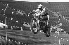 450 Words: History Made in Anaheim - Supercross - Racer X Online Off Road Bikes, Off Road Racing, Vintage Motocross, Dirtbikes, Bucky, Offroad, Old School, Motorcycle, History
