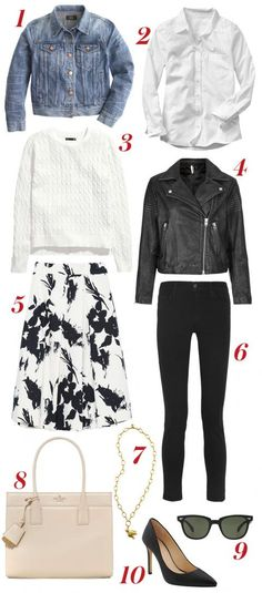 Reese Witherspoon's Street Style Wardrobe #InStyle  (I have everything but the skirt and black moto jacket. Love! PT)