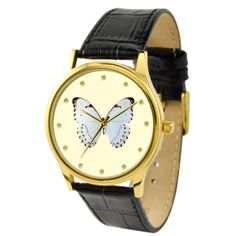Butterfly Watch White 1 by SandMwatch on Etsy,