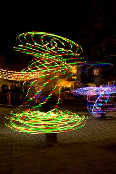 Light Painting Street Performers