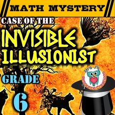 Integers Math Mystery: Case of The Invisible Illusionist (GRADE 6) Get your students excited about practicing integers with this fun math mystery! Ivan the Incredible Illusionist has come forward admitting that he is stuck in his latest trick of invisibility.