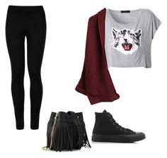 """""""Untitled #99"""" by marvel1 ❤ liked on Polyvore featuring Wolford, Converse and Whistles"""