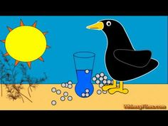 ▶ The Crow and The Pitcher Aesop's Fable - YouTube