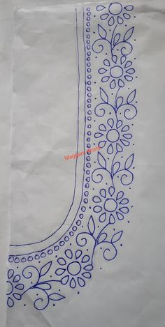 Peacock Embroidery Designs, Hand Embroidery Patterns Flowers, Border Embroidery Designs, Hand Embroidery Videos, Embroidery Suits Design, Hand Work Embroidery, Embroidery Motifs, Hand Work Design, Hand Work Blouse Design