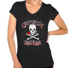 Captain Grandma T Shirt, Hoodie Sweatshirt