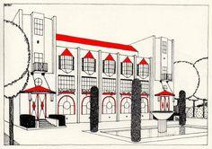 Une cité moderne, Robert Mallet Stevens. Hôtel de voyageurs (n° 15)