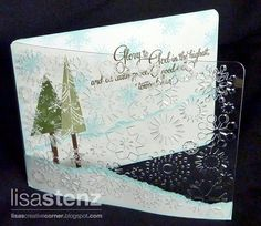 Clear card idea  Lisa's Creative Corner: Christmas