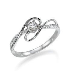 Vintage 14K White Gold and Diamond Engagement Ring, 14K Gold and Diamond ring, Antique ring, engagement ring, engagement band G-er-xtr0186