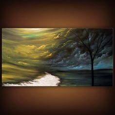 art abstract painting original painting acrylic river by mattsart