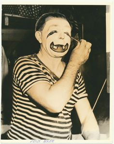 Felix Adler famous Ringling Bros Barnum & Bailey Circus Clown vintage original 1950s photograph matted & ready to frame from CrowCreekUnique