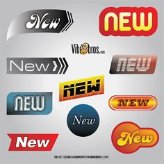 10 NEW Logos Labels Banners Vector Set - http://www.welovesolo.com/10-new-logos-labels-banners-vector-set/