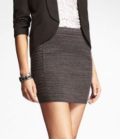 MARLED SWEATER MINI SKIRT at Express love this skirt