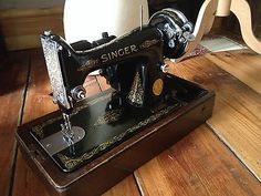 Vintage Singer Sewing Machine 99k, 1939 original box and electric motor