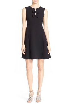 kate spade new york 'kite bow' crepe fit & flare dress available at #Nordstrom