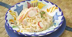 Pasta con salsa de surimi
