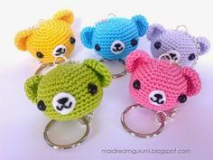 Never Say Amigurumi: - Pattern & Tutorial - Teddy Bear keychain