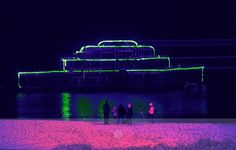Laser show at the West Pier - Famous Brighton Landmarks