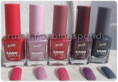 """.Russkajas Beauty.: P2 Nagellacke """"Sandstyle"""""""