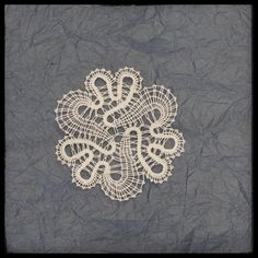 Flower bobbin lace, Slovenian lace, Idrija bobbin lace, pillow lace, white flower lace by CraftyKaja on Etsy Crochet Art, Crochet Hooks, Bobbin Lacemaking, Bobbin Lace Patterns, Lace Braid, Lace Jewelry, Lace Making, Loom Weaving, Lace Flowers