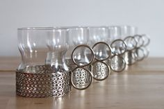 Mid Century Glassware by Finnish Designer Timo Sarpaneva - Scadinavian Drinking Cups Made in Finland
