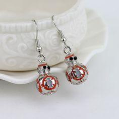 Star Wars Jewelry BB8 Dangle Hook Drop Earrings Metal Alloy Pendant #StarWarsJewelry