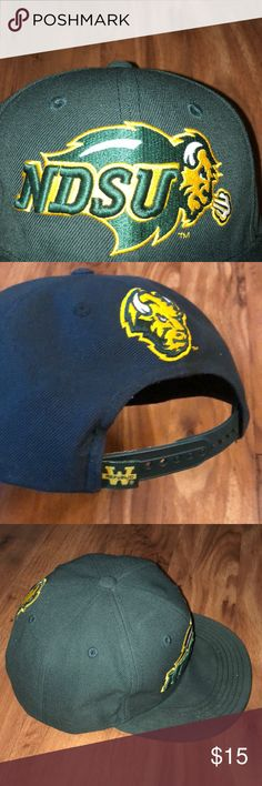 buy popular 594e2 3c0fd NDSU hat cap Bison North Dakota State U SnapBack
