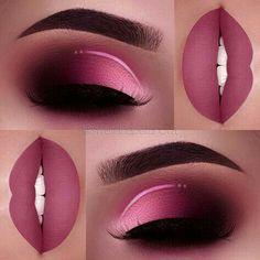 Qivange Eye Makeup Brushes, Eyeshadow Concealer Eyeliner Makeup Brush Set with Portable Pouch Pink with Rose Gold) Eye iDeas 👀 Pink Makeup, Cute Makeup, Gorgeous Makeup, Pretty Makeup, Easy Makeup, Awesome Makeup, Gold Makeup, Glitter Makeup, Maquillage On Fleek