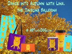 Meet our new Design, Lina, the Javelina Ballerina. Inspired by an unexpected happy encounter with a young javelina in Tucson, Arizona this Summer.  Find her and her friends @ ARTwithDOG.com  #Desert #Southwest #Fall #Autumn #West #FallColors #Leaves #Ballerina #Peccary #Javelina #Dance #School #BackToSchool #Leggings #Pouches #Totebag #CoffeeMug #TravelMug #iphone #samsung #iphone7 #iphone7cases #iphone6 #phonecases #Tuscon #Arizona #Texas #NewMexico #Scottsdale #Phoenix #SoCal #California
