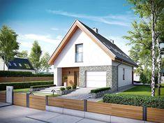 Zdjęcie projektu Elias G1 energo WRC2617 Roof Design, House Design, Carriage House Plans, Cute Bedroom Decor, Facade House, New House Plans, Design Case, Home Fashion, Double Doors