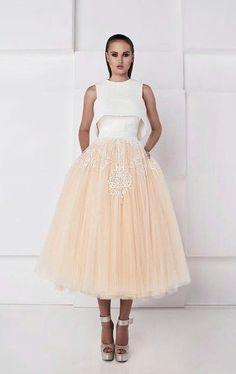 Миди 2 свадебное платье