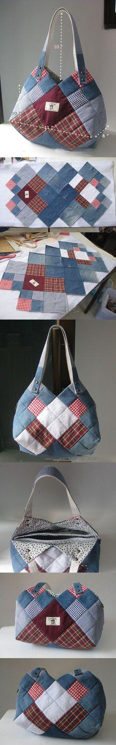Cómo coser una bolsa de mezclilla con las manos. Diagramas y master class detallada?