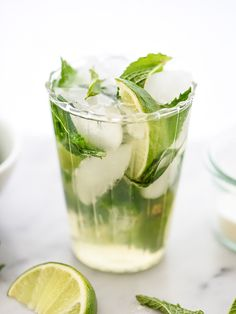 Champagne Mojitos Ingredients ¼ cup fresh mint leaves, plus more for garnish ¼ cup thai basil leaves 3 tablespoons super fine sugar 2 limes, cut into wedges 1 cup rum 1 bottle cold cava Instructions Put the mint, thai basil, sugar and lime wedges into a small glass and muddle, in batches if needed. Pour the rum into a pitcher and add the mint mixture and lots of ice. Top with the cava and pour into glasses filled with ice. Garnish with fresh mint or thai basi...