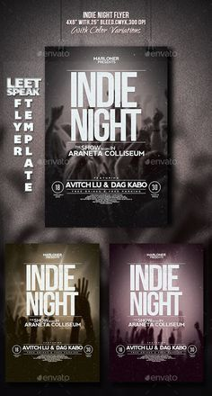 Indie Night Flyer — Photoshop PSD #gig #dance • Available here → https://graphicriver.net/item/indie-night-flyer/9644114?ref=pxcr