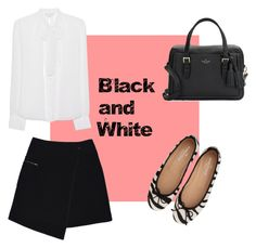 """""""Black and White"""" by josefinasportugal ❤ liked on Polyvore featuring MARC CAIN, Diane Von Furstenberg and Kate Spade"""